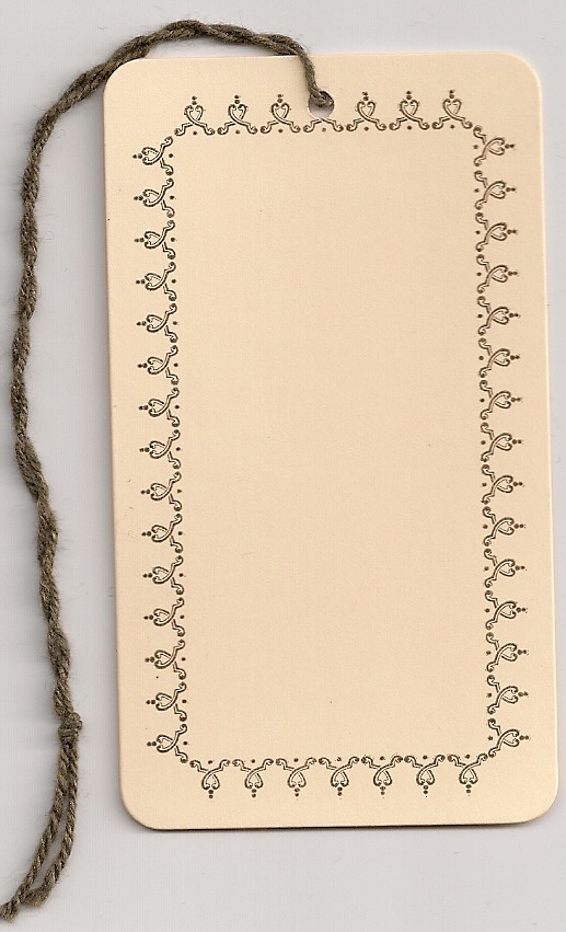 BORDER TAG W/STRING ATTACHED (2X3-1/2) ROUND CORNERS 1000s